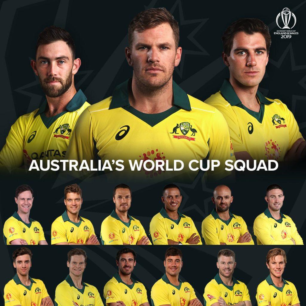 Confirm Australia World cup Squad of 15 men