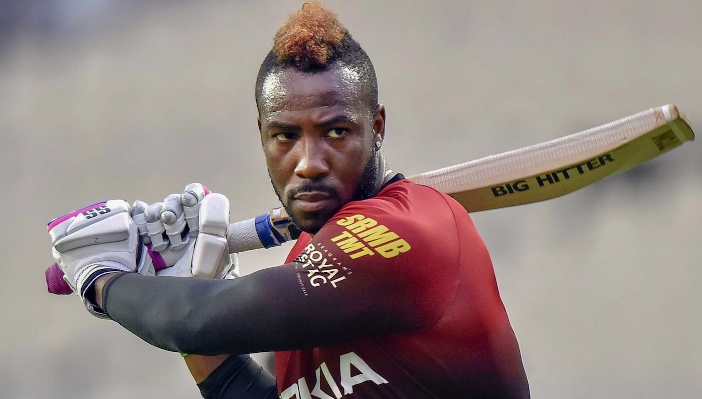 windies Super striker of cricket ball Andre Russell