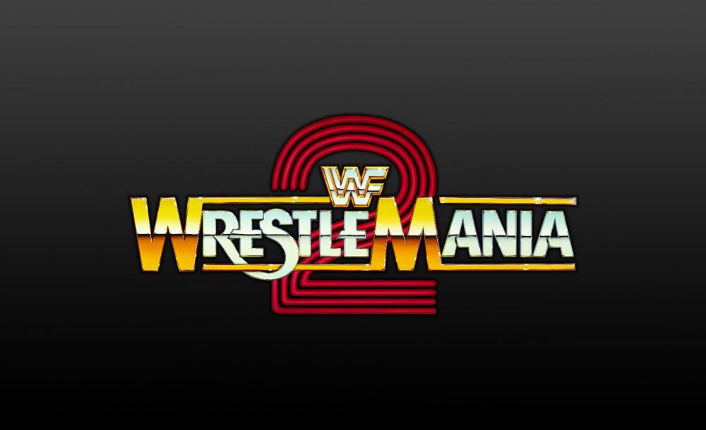 wrestlemania 2 logo wallpaper