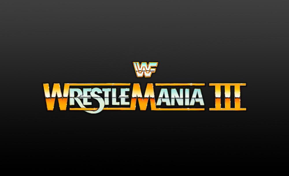 wrestlemania 3 logo wallpaper