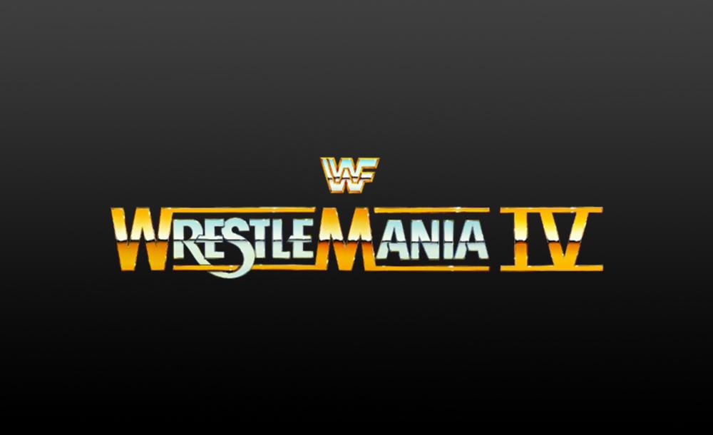 wrestlemania IV logo wallpaper