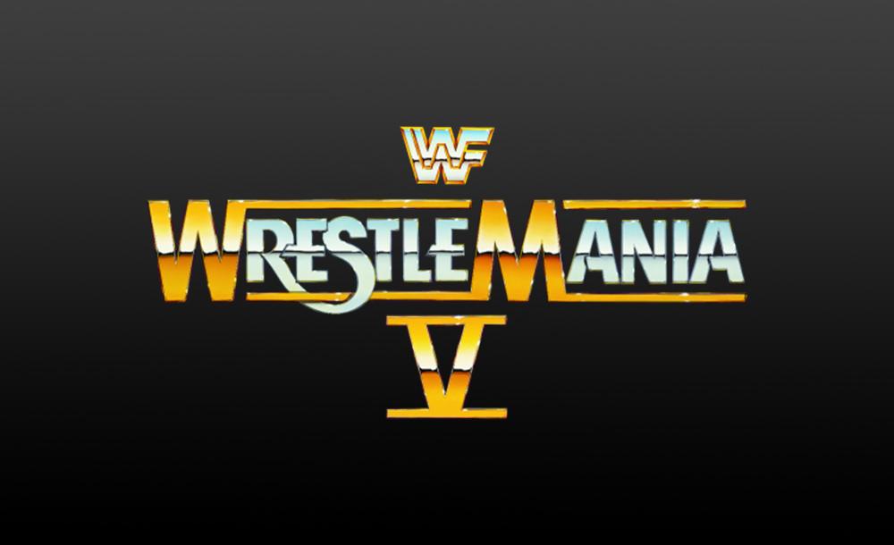 wrestlemania V logo wallpaper
