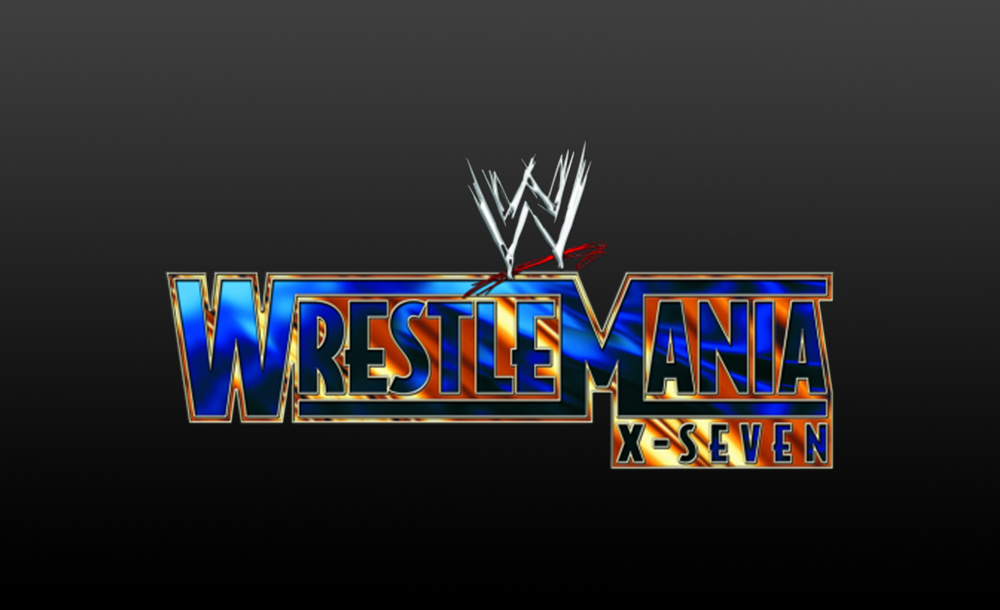 wrestlemania X-seven logo wallpaper