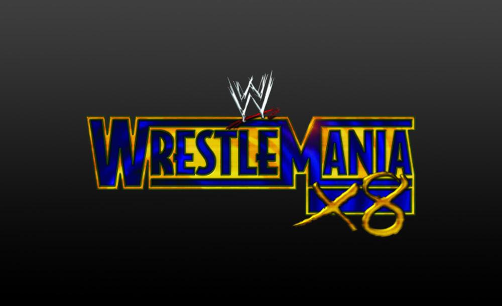 wrestlemania X8 logo wallpaper