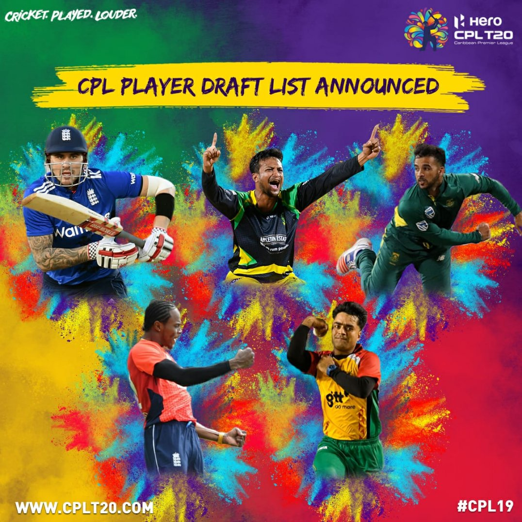 CPL 2019 players draft