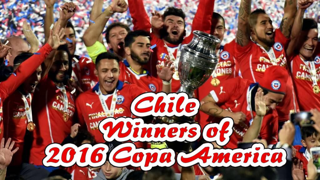 Chile Winners of Copa America 2016 Edition
