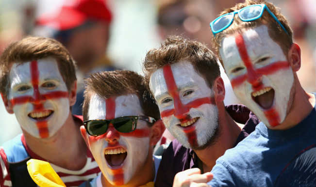 England supporter happy faces