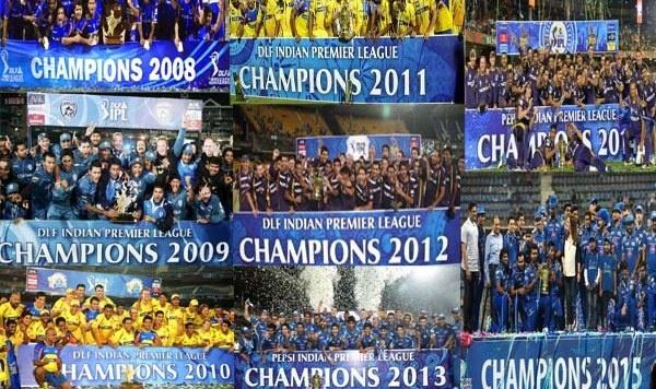 Indian Premier League winners