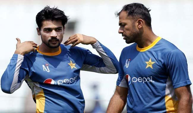 Mohammad Amir Wahab Riaz in pakistan squad for world cup