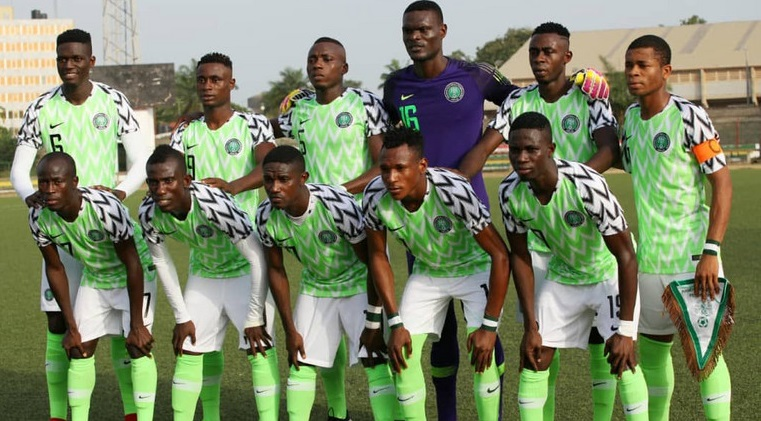 Nigeria U20 football players