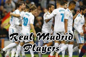 Real Madrid football players