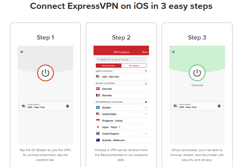 How to Connect ExpressVPN on IOS Iphone Ipad device 3 easy steps