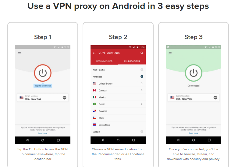 How to Use ExpressVPN proxy on Android Three easy steps