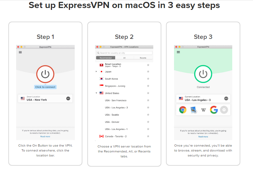 How to connect ExpressVPN on Mac OS sytem in 3 easy steps