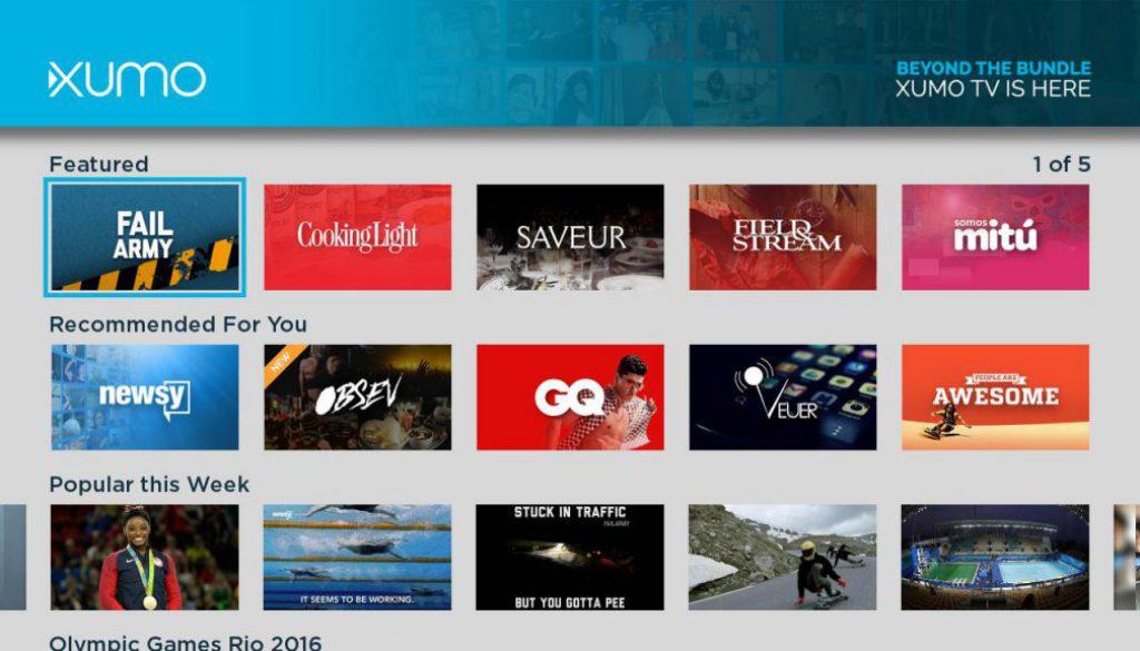 Xumo TV channel list