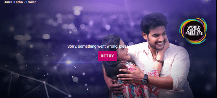 Zee5 from US uk connection error premium subscription