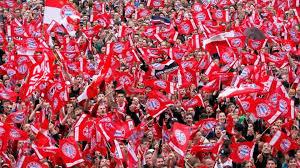 Bayern Munich Fans ready for Bundesliga game against Dortmund
