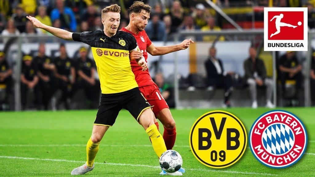 Bayern Munich vs Dortmund HD wallpaper with team logo