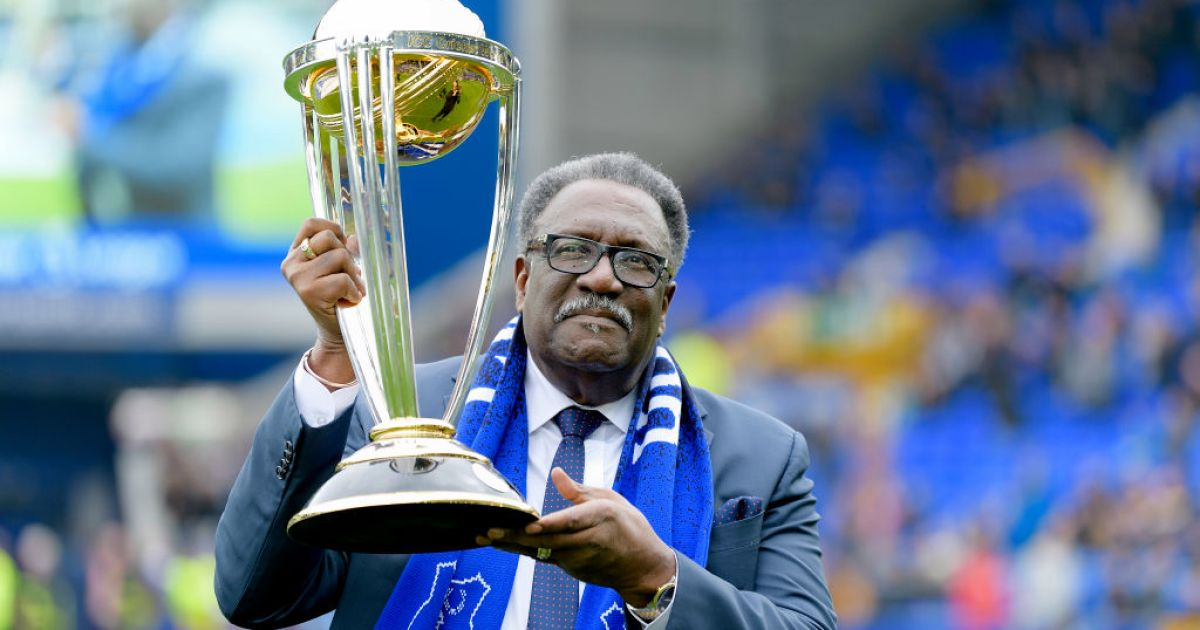 Clive Lloyd with World cup winning trophy