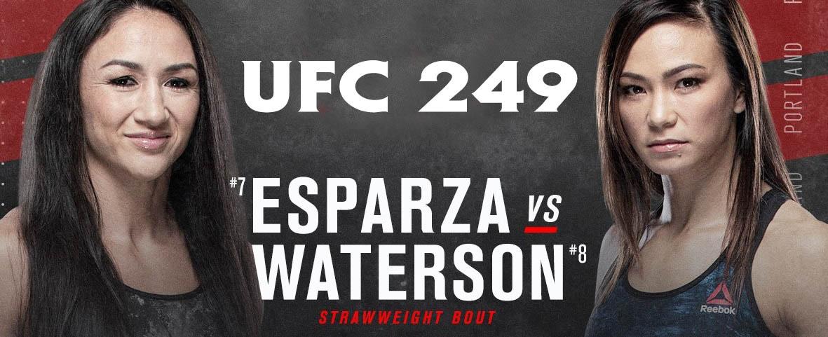 Esparza vs Waterson ufc 249 fight