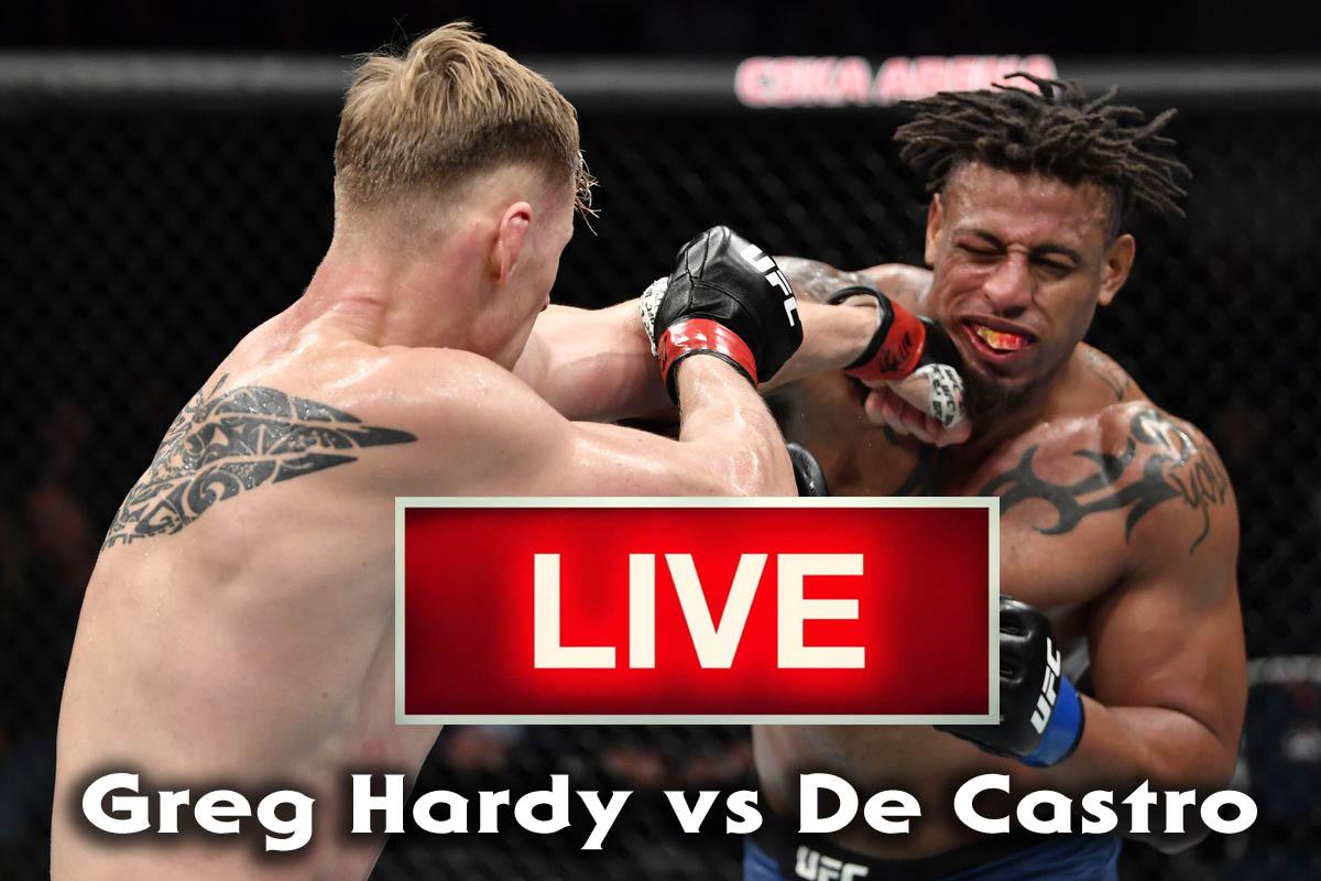 Greg Hardy vs De Castro live ufc 249