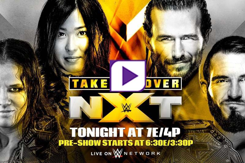 WWE NXT Takeover in your house live