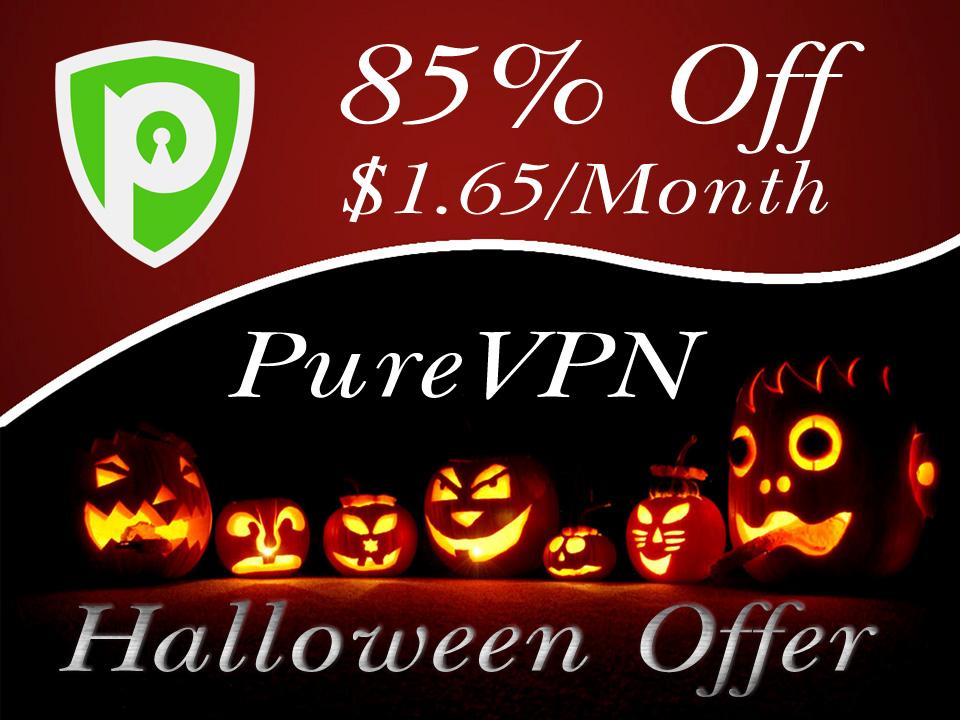 PureVPN offer sale on Halloween 2020