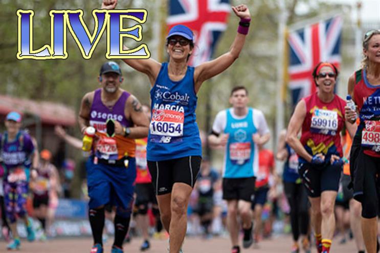 London Marathon race live stream