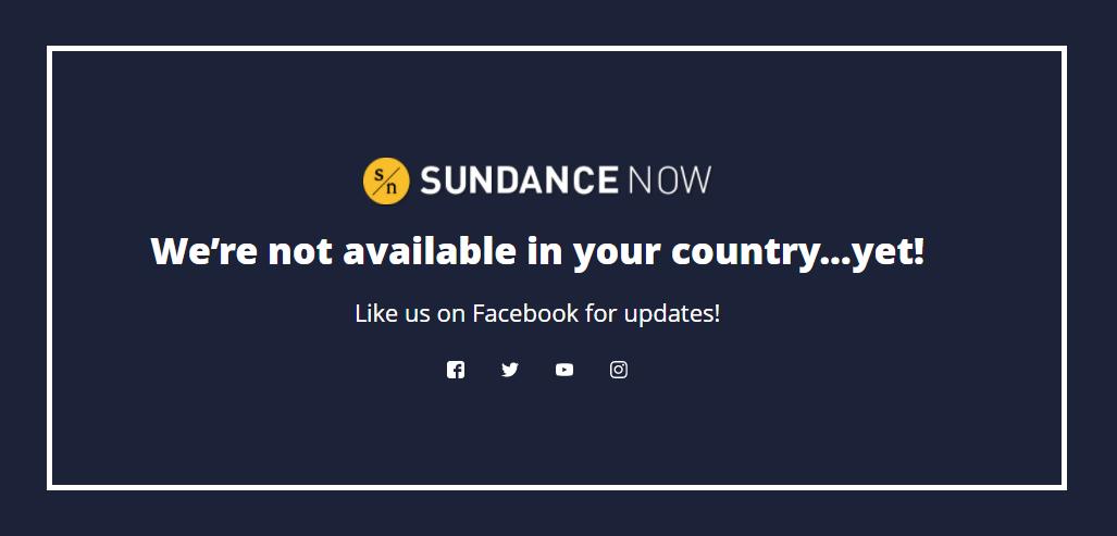 Sundance Now Error Message solution