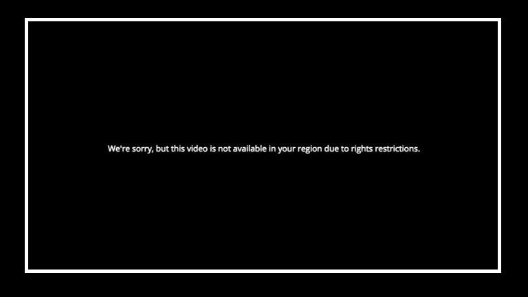 Watch PBS outside USA error message