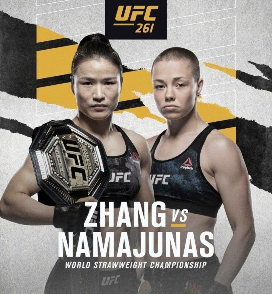 Zhang Weili vs Rose Namajunas ufc 261 fight
