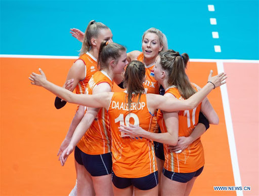 Womens Netherlands takes on Belgium in Volleyball Nations League
