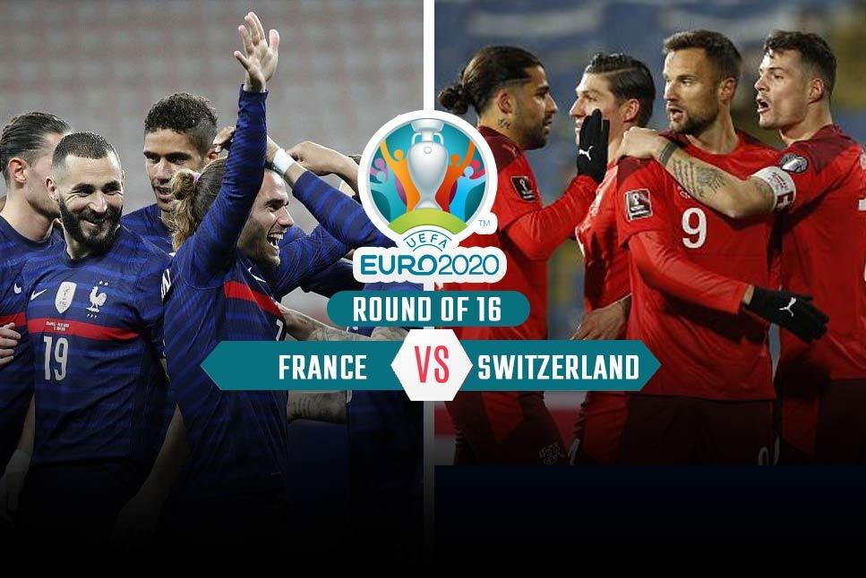 France vs Switzerland 28 June Euro game