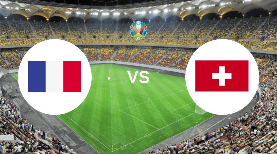 France vs Switzerland match HD logo