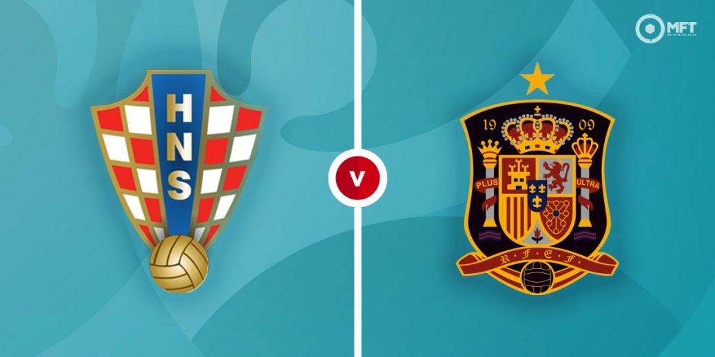 Spain vs Croatia football game